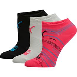 Women's Superlite No Show Socks [3 Pack], MEDIUM PINK, small